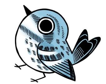 Bird Sticker Cerulean Warbler