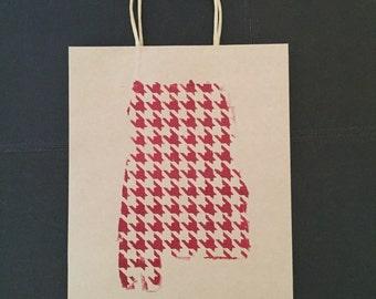 Houndstooth Gift Bag - Alabama