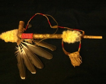 Peace pipe, Sacred Pipe, Native American Style Pipe, Smokable, Beautiful!