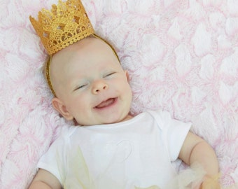 Lace Baby Crown