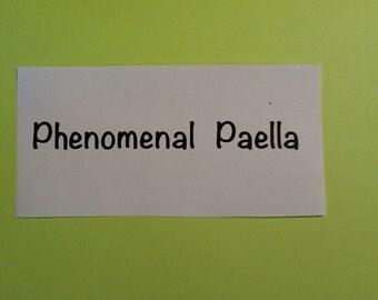 PHENOMENAL PAELLA