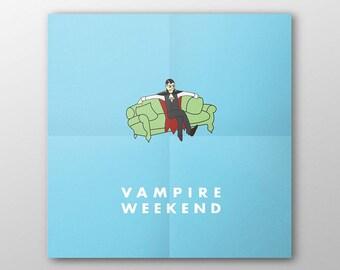 Minimalist Vampire Weekend Poster