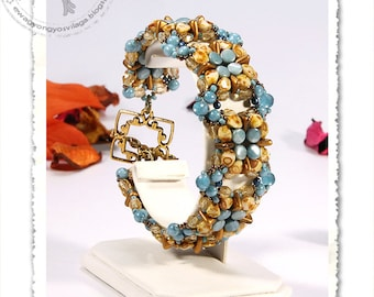 Kiral beaded bracelet PDF pattern