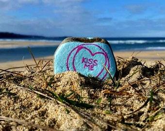 Love Hearts, Hand Painted, Pebbles, Unusual Gift, Love Token, Girlfriend Gift, Boyfriend Present, Relationship, Couples, Lovers, Romantic