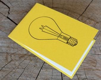 Letterpress Booklet, Light Bulb - Yellow