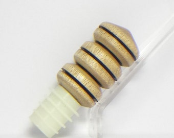 Bottle Stopper with Myrtlewood and silicone plug-#B003