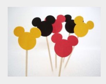 24 Mickey Mouse toothpicks. Great for parties, Baby Shower and more.