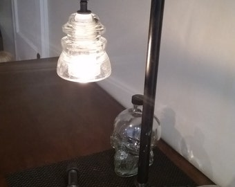 Industrial Pipe Lamp with Clear Insulator