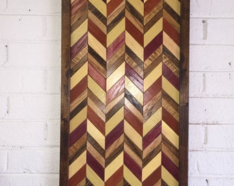 Chevron Reclaimed Wood Wall Art - Chevron Wall Art - Reclaimed Wood Wall Art - Home Decor - Wall Decor