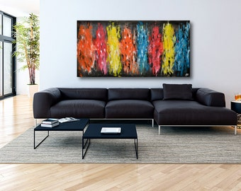 Original Large Abstract painting on canvas,contemporary art