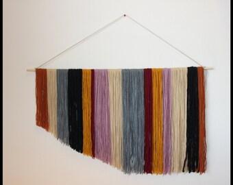 Large Bohemian Yarn Wall Hanging Decor