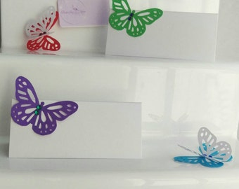 Butterfly Place Cards, Butterfly Wedding Place Cards, Butterfly Wedding Names Place Cards, Butterfly Wedding Place Setting Cards, pk of 50