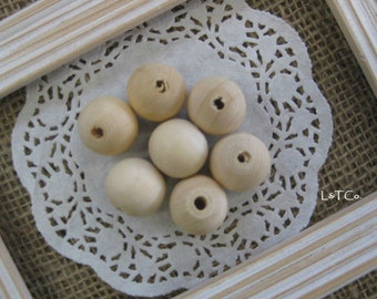 Natural Wooden Round Beads 20mm