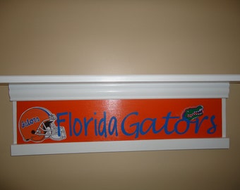 Florida Gator Shelf, Florida Gators Decor, Florida Gator Gifts, Dorm Room  Decor,