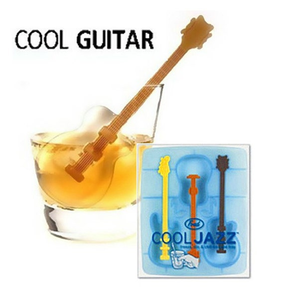 guitar with stick ice mold ice tray flexible silicone mold