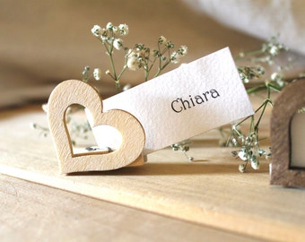 Rustic country wedding Segnatavoli wooden gift tag placeholders shabby chic