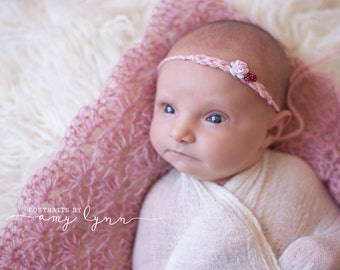 Mohair Lace Layering Blanket Newborn Photography Prop