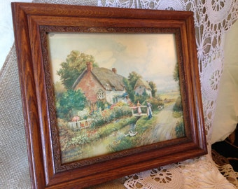 SALE!!   Antique Gesso Detailed Wood Frame - Antique Oak with raised berries and leaves
