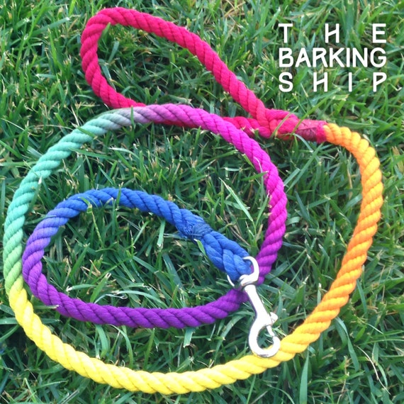 Rainbow fish rope leash for Fish on a leash