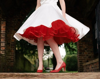Plain Coloured Petticoats - Made-to-Measure in Any Colour & Size