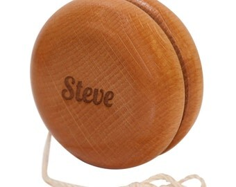 Classic Wooden Yoyo Personalized with Your Name or Phrase