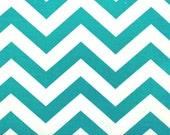 Premier Prints ZigZag Chevron in True Turquoise Home Decor fabric, 1 yard