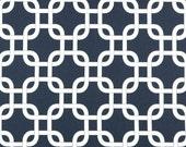 Premier Prints Geometric Gotcha in Navy Blue Twill Home Decor fabric, 1 yard