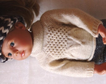 off-white twisted sweater for doll