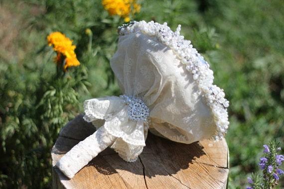 Brooch Bouquet, Wedding bouquet, bridesmaids bouquets, wedding decor, wedding brooch, wedding flowers, wedding accessorie, ivory brooch