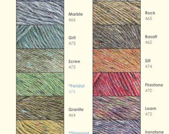 Rowan Purelife Revive, DK yarn recycled ethical, vegan