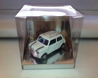 Classic Corgi Mini Cooper custom wedding gift favour diecast
