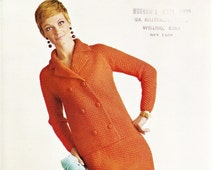 Argyll Vintage 1960's Knitting Pattern Double Breasted Suit to fit 34' to 44' bust