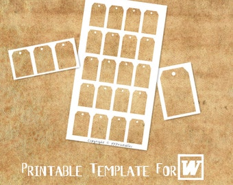 MICROSOFT WORD Compatible Printable Template: Custom Tag/Label II for Hang Tag, Gift Tag, Favor Tag & Party Label - DiY Party Printables