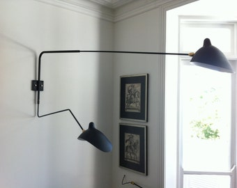 Serge Mouille  Two Arm Wall Light