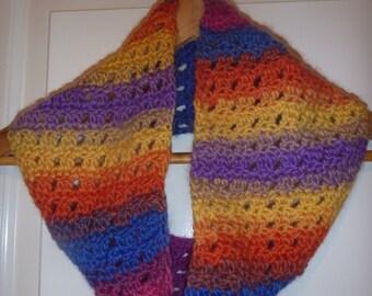 Everyday crochet cowl (100% wool)