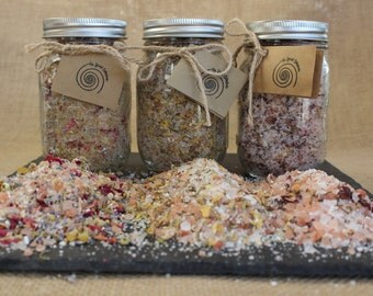 Bath Salt Trio || 48 Total Ounces || Soothing, Muscle Soreness, Anti-Anxiety