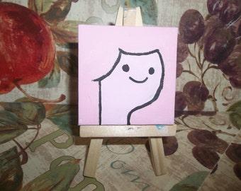 Princess Bubblegum mini painting