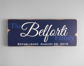 Rustic Family Last Name Sign Family Established Sign Rustic Wedding Sign