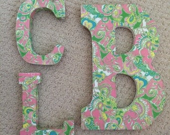 Lilly Pulitzer Wooden Monogram Letters