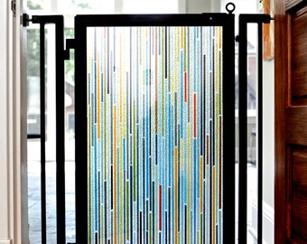 Indoor Designer Pet Gate - Modern Lines