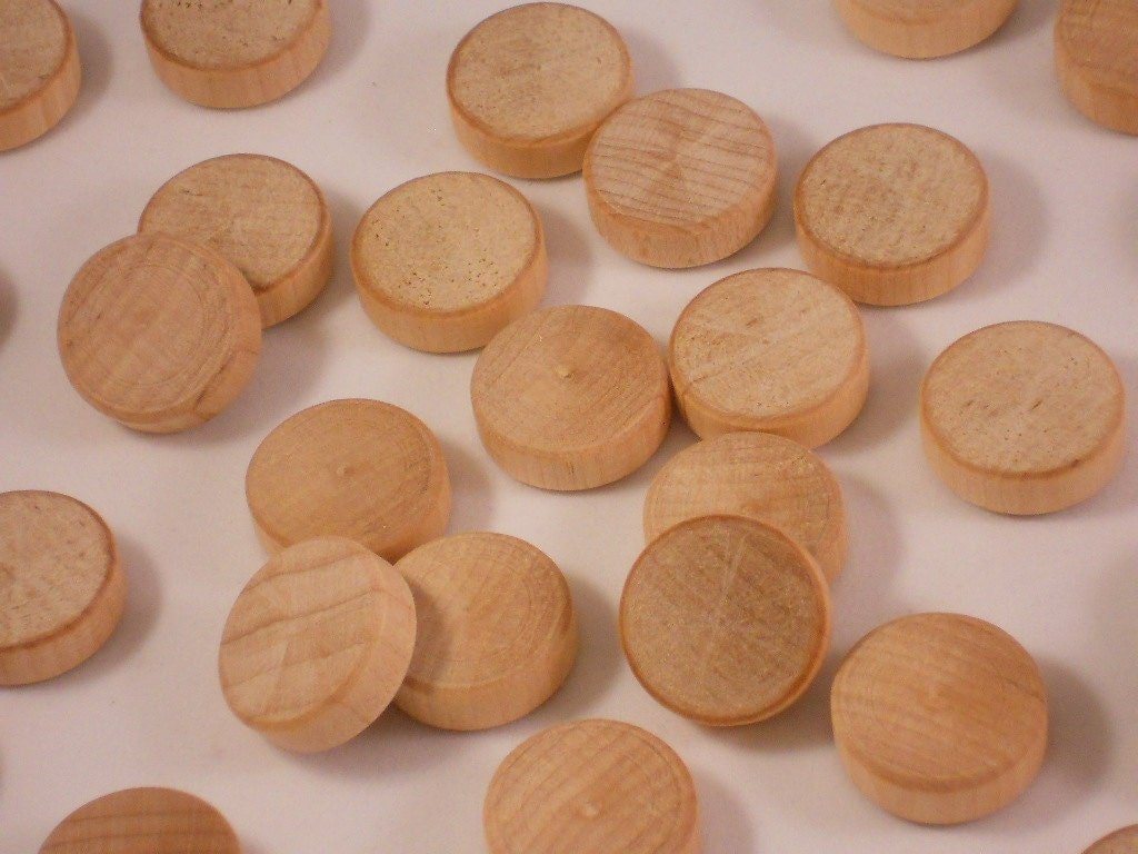 Dirty Wood Chips ~ Wood quot checkers chips unfinished wooden