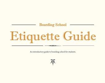 eBook - Boarding School Etiquette Guide for Students
