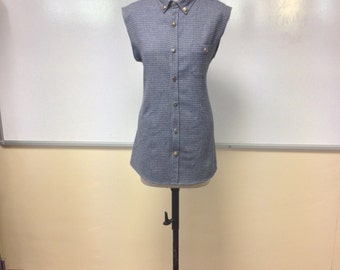 Vintage Up-cycled Shirt Dress