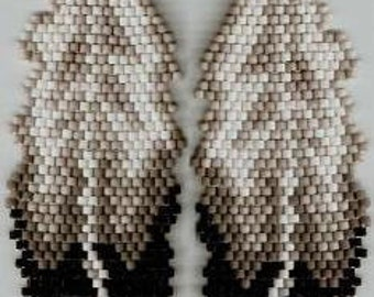 Eagle Feather Earrings-Brick Stitch Beading Pattern