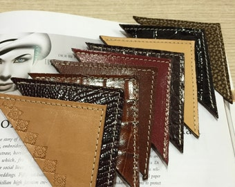 Handicrafts, Lovely leather Bookmarks, handmade with love in Italy