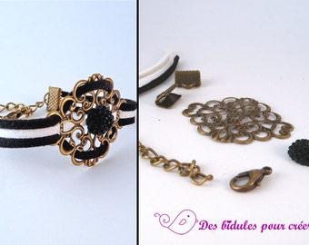 Kit DIY bracelet black and white
