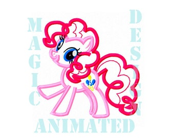 My Little Pony Machine Applique Design in 2 sizes ---Instant download---