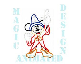 Mickey Mouse Machine Applique Design in 2 sizes ---Instant download---