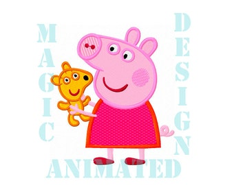 Peppa pig pattern etsy - Peppa pig telecharger ...