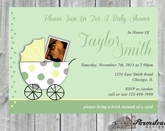 Boy and Girl Shower Invites, Ultrasound Baby Shower Invite, Printable Invitation, Baby Shower Photo Invitations, Sonogram Ultrasound